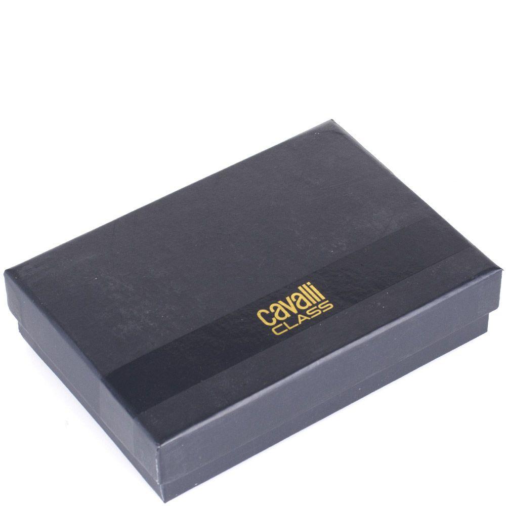 Портмоне Cavalli Class Black Daphne с лаковым клапаном коричневого цвета