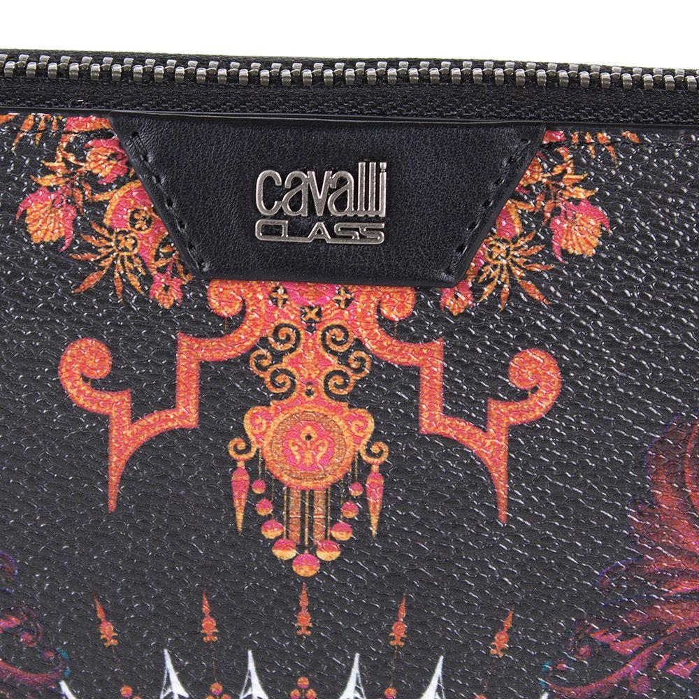 Портмоне Cavalli Class Crazy Print черного цвета на молнии