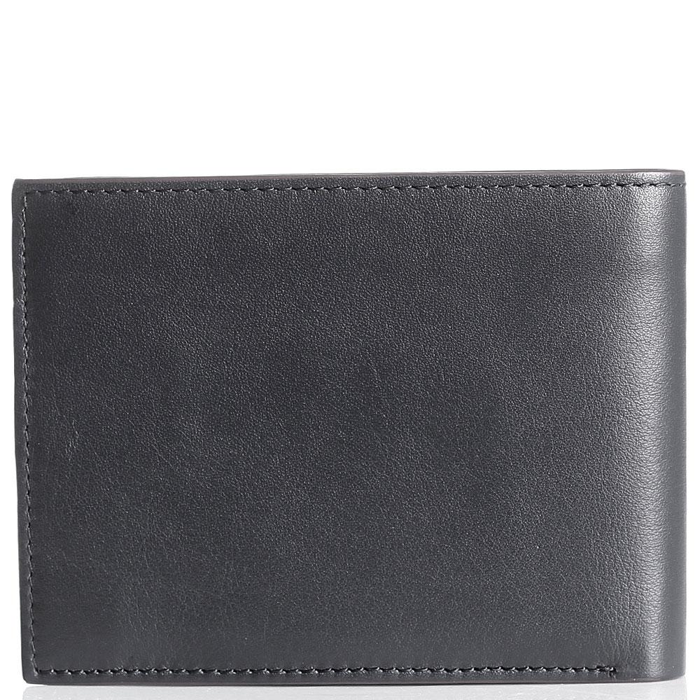 Мужское портмоне Cavalli Class Signature Colle из мягкой синей кожи