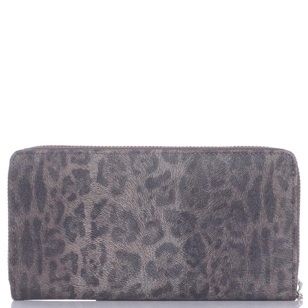 Женское портмоне Cavalli Class Leopard с животным принтом