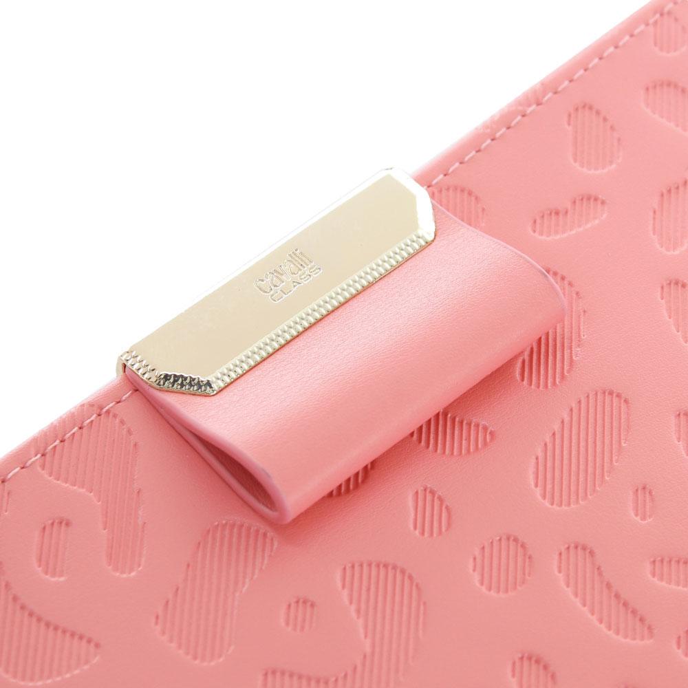 Кошелек Cavalli Class Sofia из тисненой кожи розового цвета