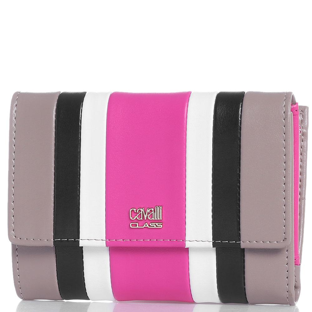 Складной кошелек Cavalli Class Phoebe с цветными полосами