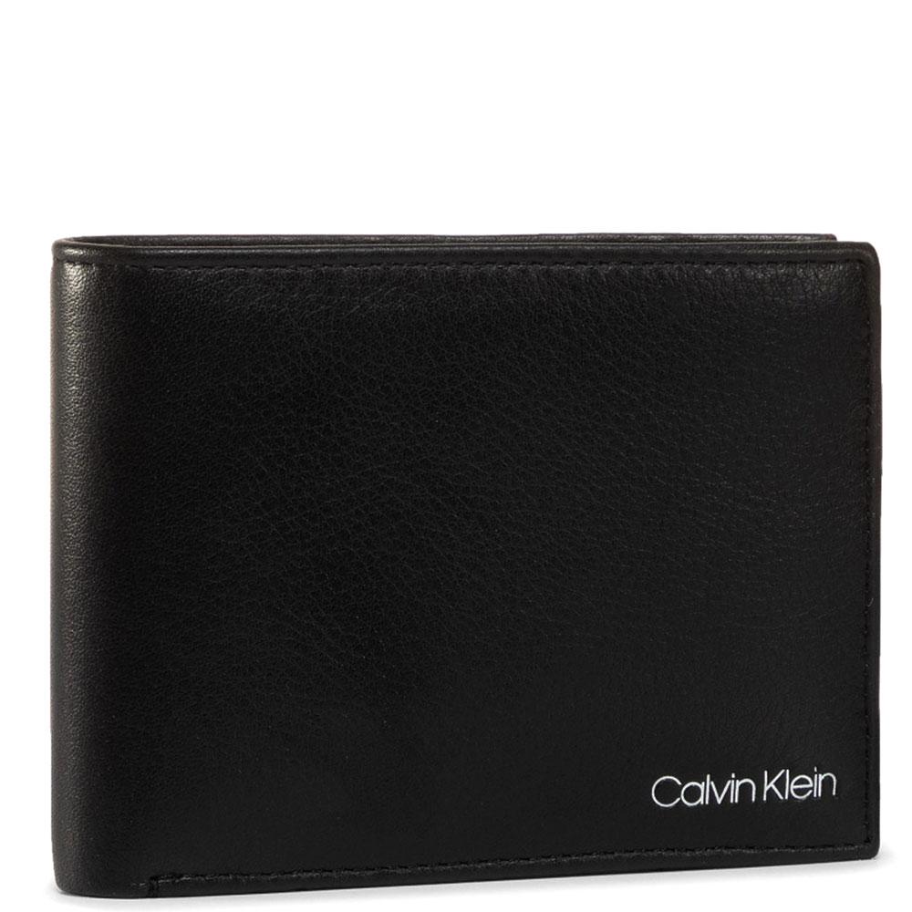 Портмоне из кожи Calvin Klein черного цвета