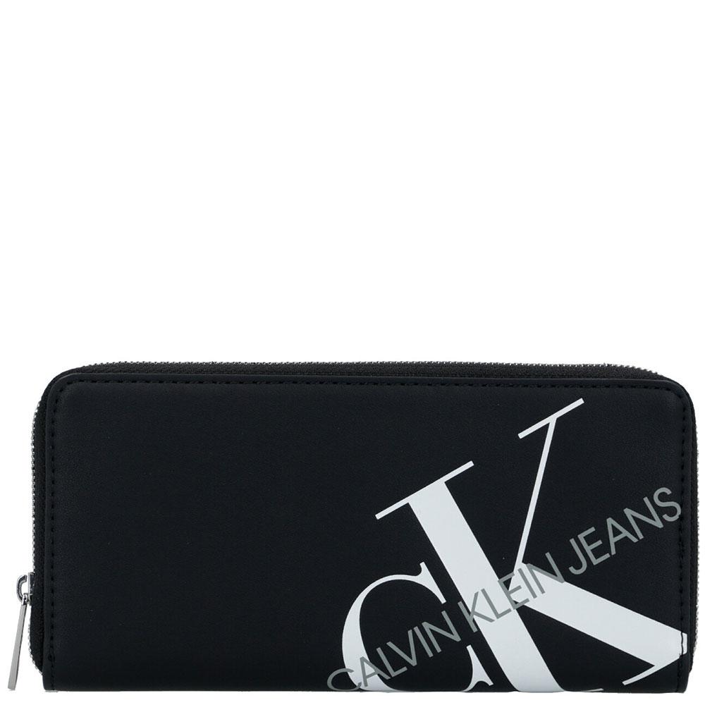 Кошелек черного цвета Calvin Klein с принтом