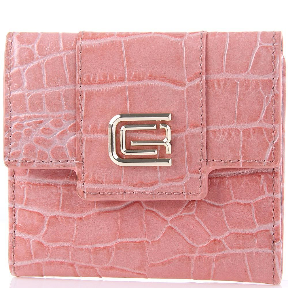 Портмоне женское Cavalli Class Keira кожаное розовое маленькое