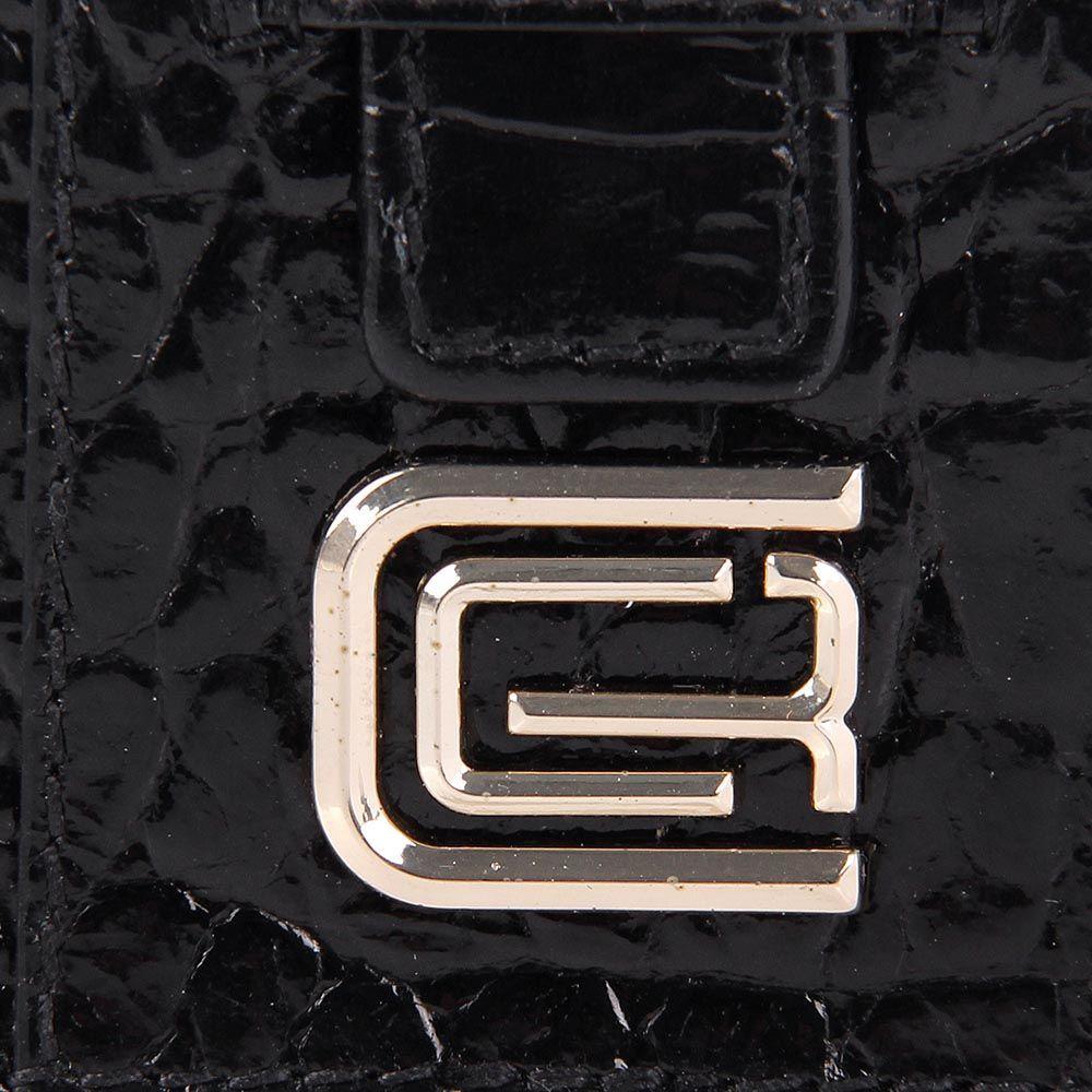 Кардхолдер Cavalli Class кожаный черный маленький
