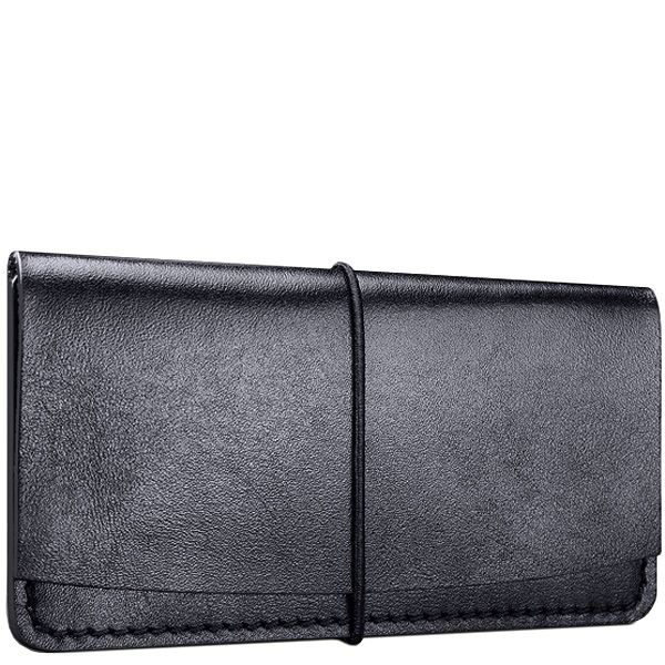 Визитница Moreca Black Card Case из натуральной кожи на резинке