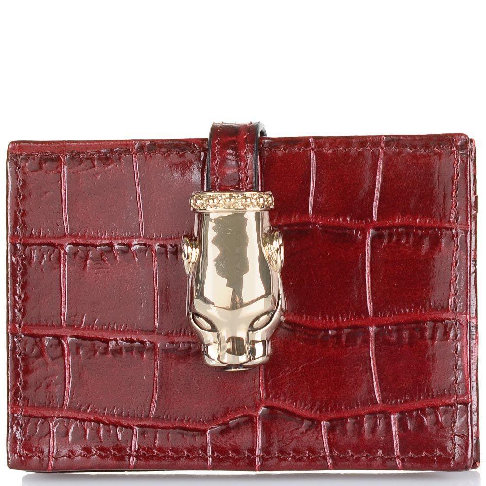 Кардхолдер Cavalli Class Daphne кожаный бордовый