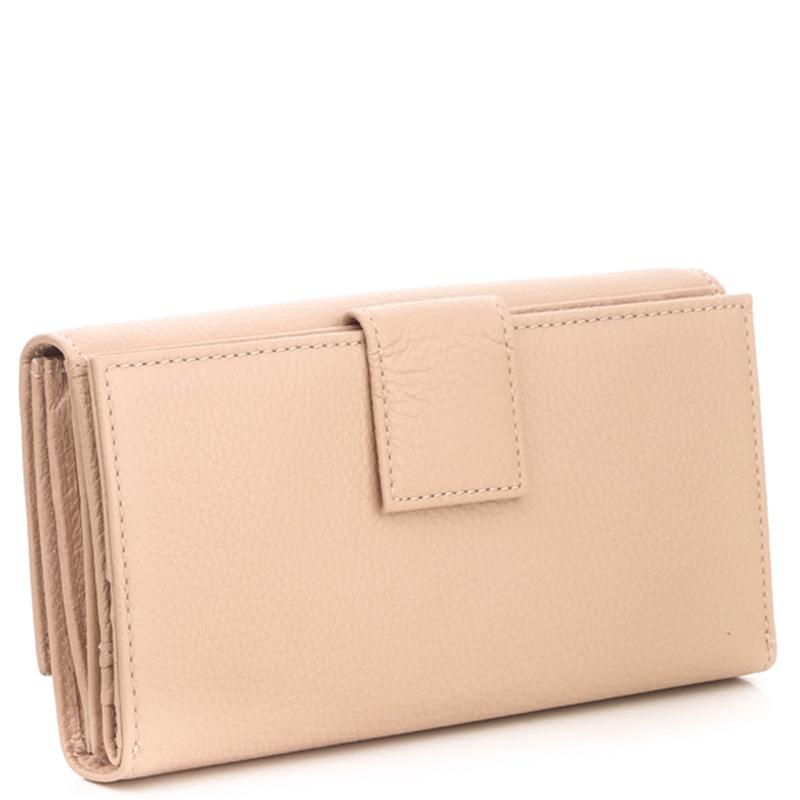 Бежевый складной кошелек Coccinelle со слотами для кредитных карт