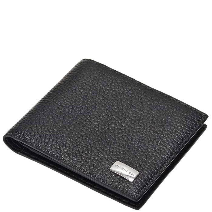 Горизонтальное черное портмоне Cerruti 1881 с большим количеством карманов
