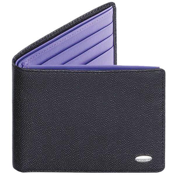 Портмоне Dalvey горизонтальное в черном и фиолетовом цвете