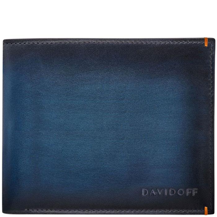 Портмоне Davidoff Venice из кожи синего цвета