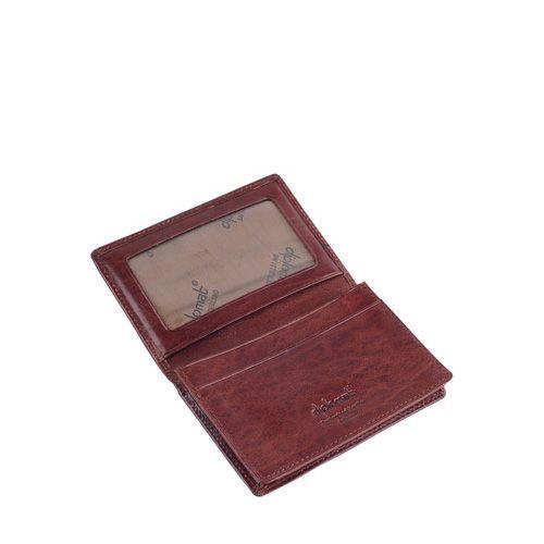 Кредитница Diplomat кожаная бордово-коричневая