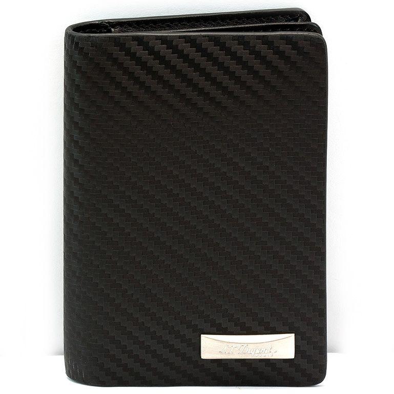 Визитница S.T.Dupont Defi Carbon вертикальная черная