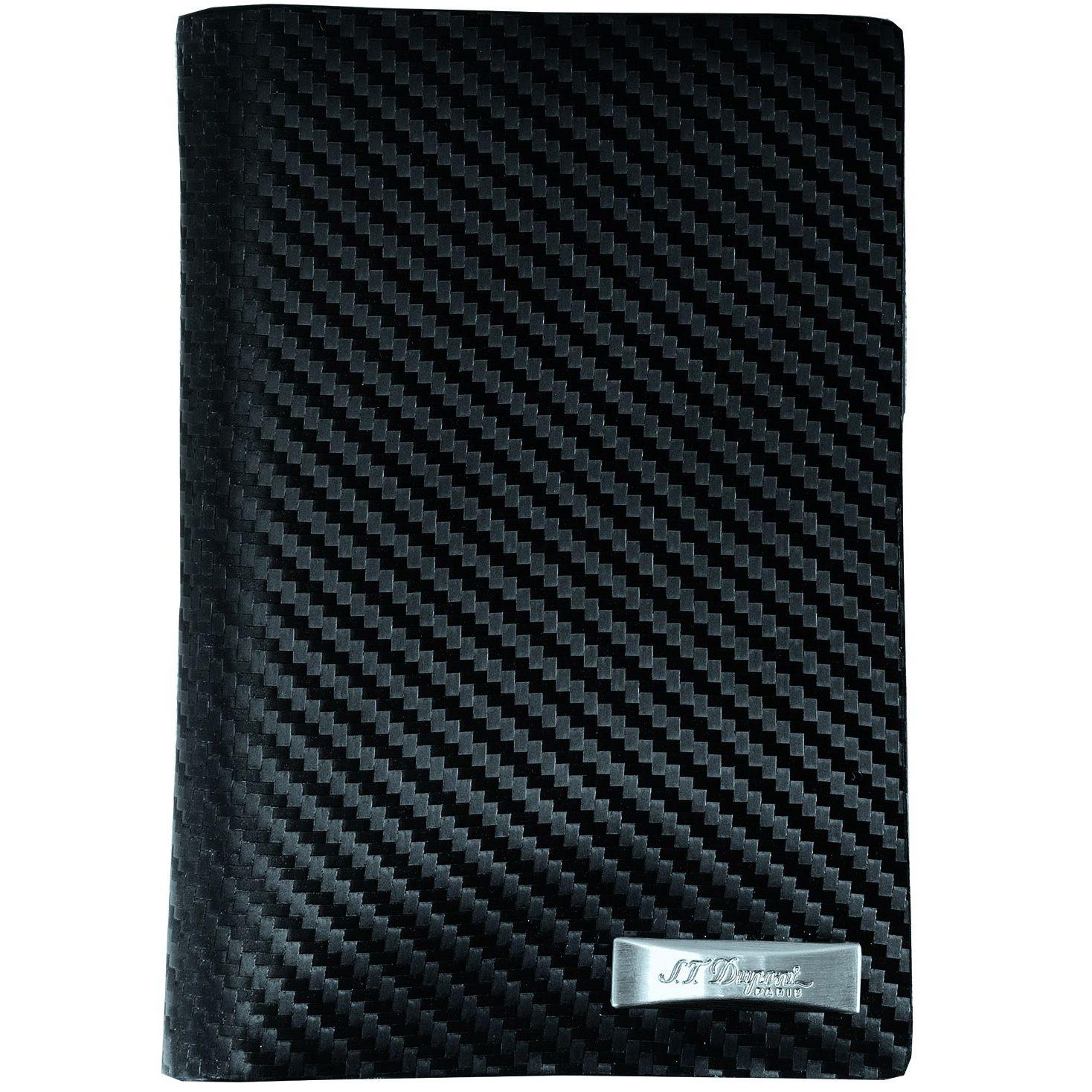Портмоне S.T.Dupont Defi Carbon вертикальное черного цвета