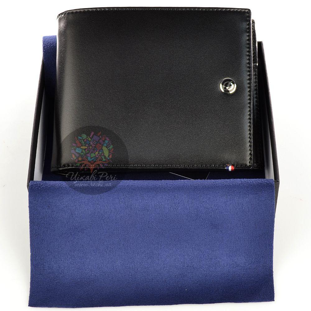 Портмоне S.T.Dupont Ligne D Elysee из черной кожи на пять кредитных карт со съемным блоком еще для семи карт