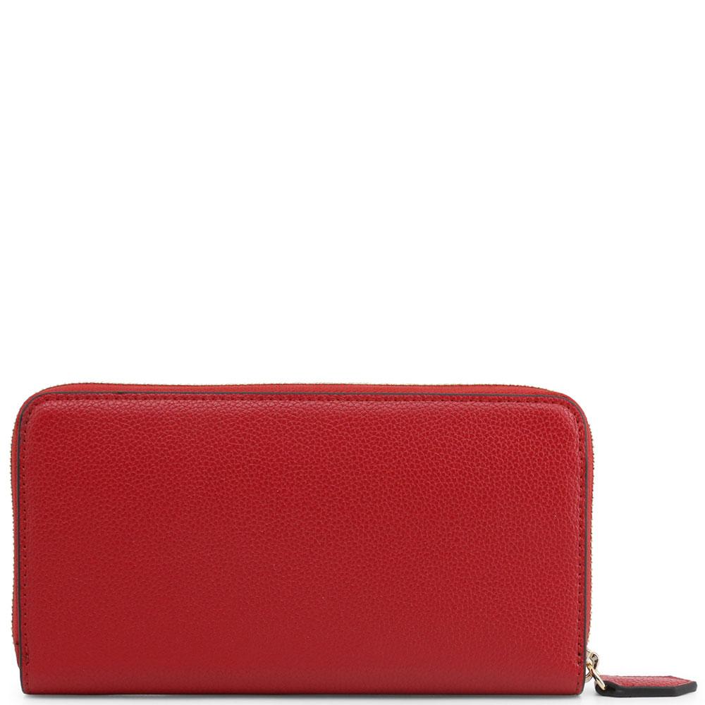 Красный кошелек Emporio Armani с монетницей