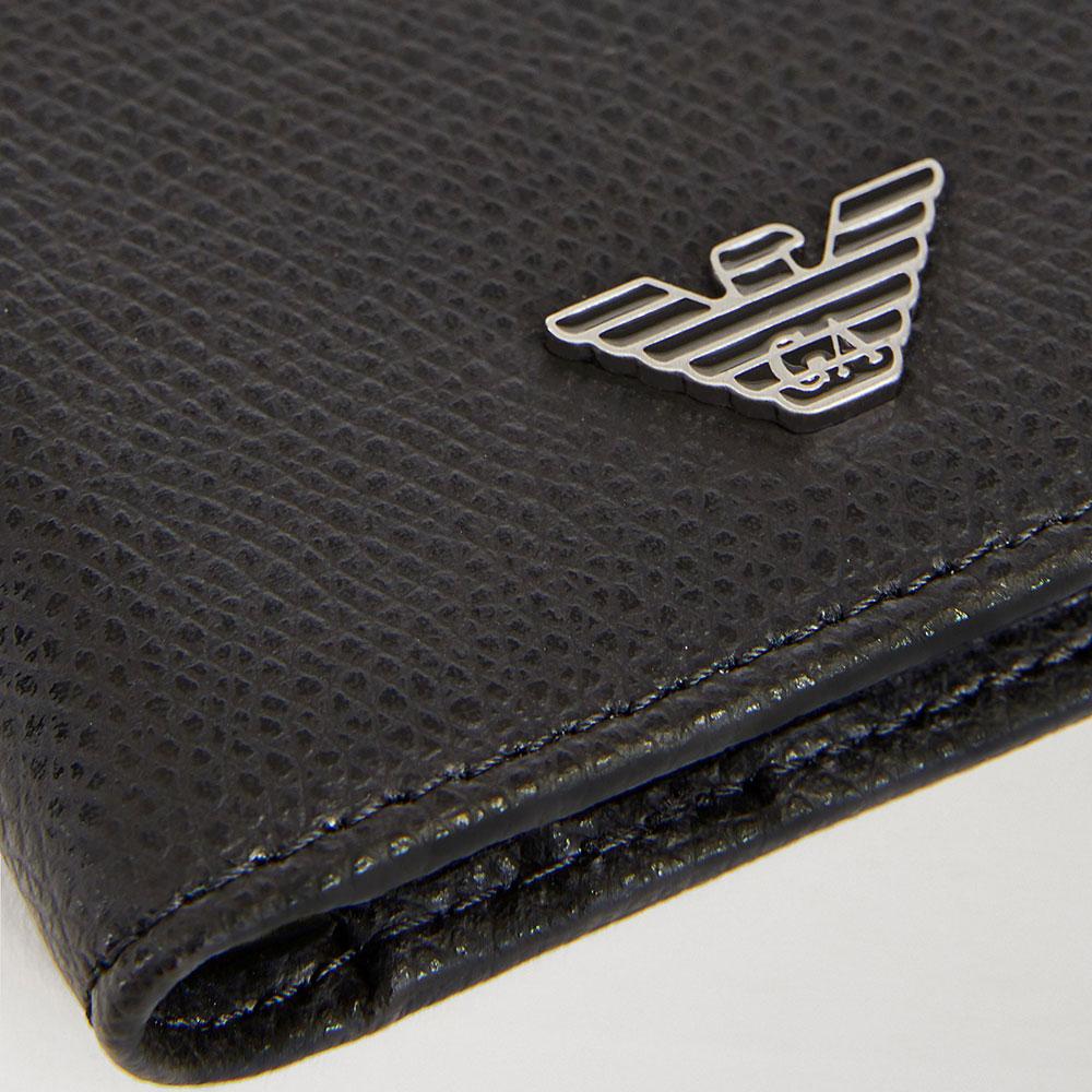Черное портмоне Emporio Armani с логотипом