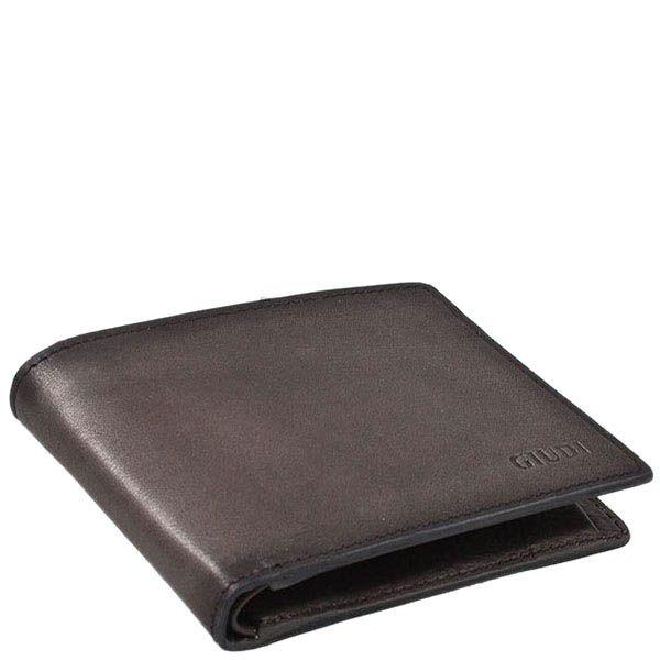 Серое портмоне Giudi Leather из натуральной гладкой кожи
