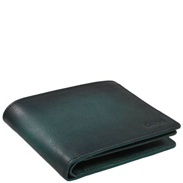 Стильный зеленый кошелек Giudi Leather из натуральной кожи на застежке
