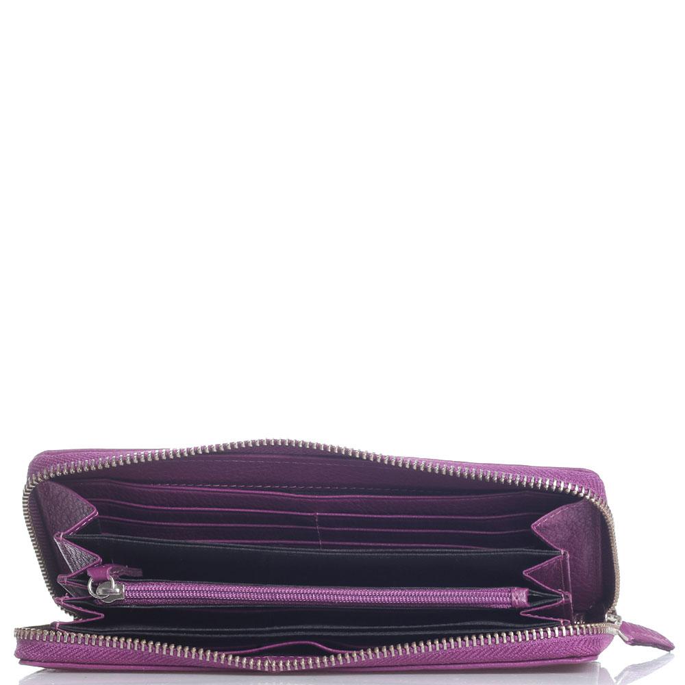 Пурпурный кошелек Baldinini Connie из зернистой кожи