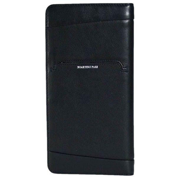 Черное вместительное портмоне Tony Perotti Giugiaro из натуральной кожи для мужчин