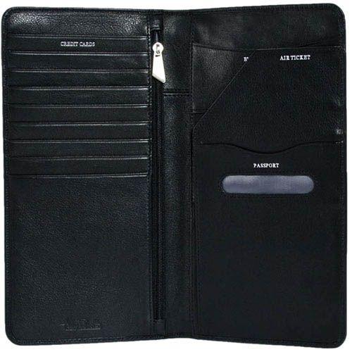 Черное вместительное портмоне Tony Perotti Giugiaro из кожи для мужчин