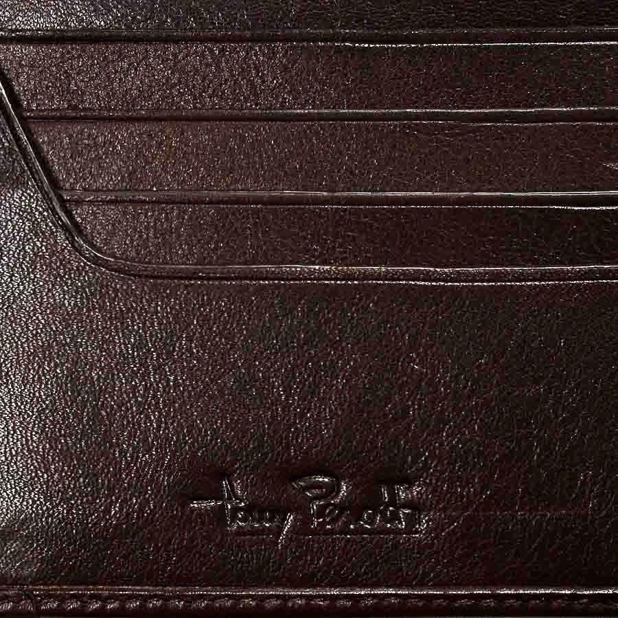 Небольшое вертикальное портмоне Tony Perotti Giugiaro из зернистой коричневой кожи
