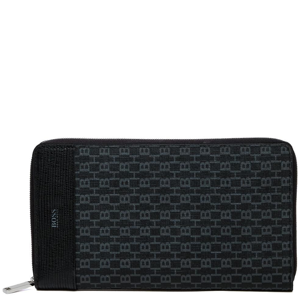 Вертикальное портмоне Hugo Boss черного цвета