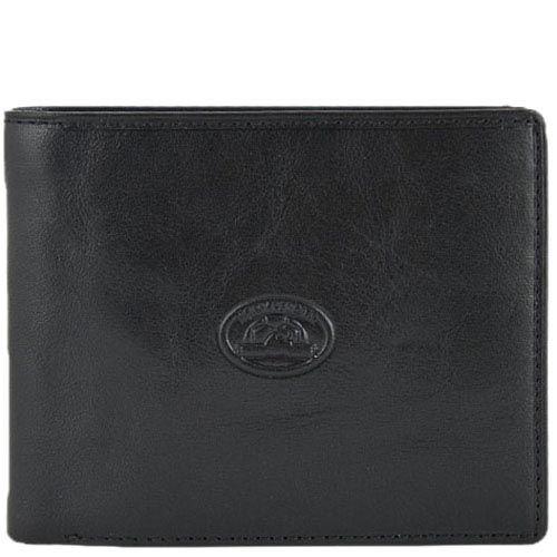 Черный классический кошелек Tony Perotti Italico с наружным карманом