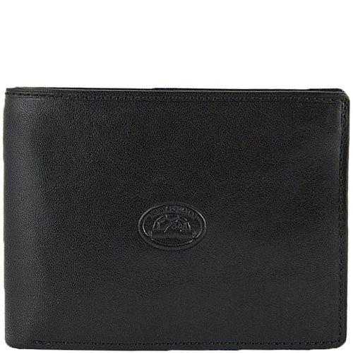 Классическое черное портмоне Tony Perotti Italico из кожи для мужчин