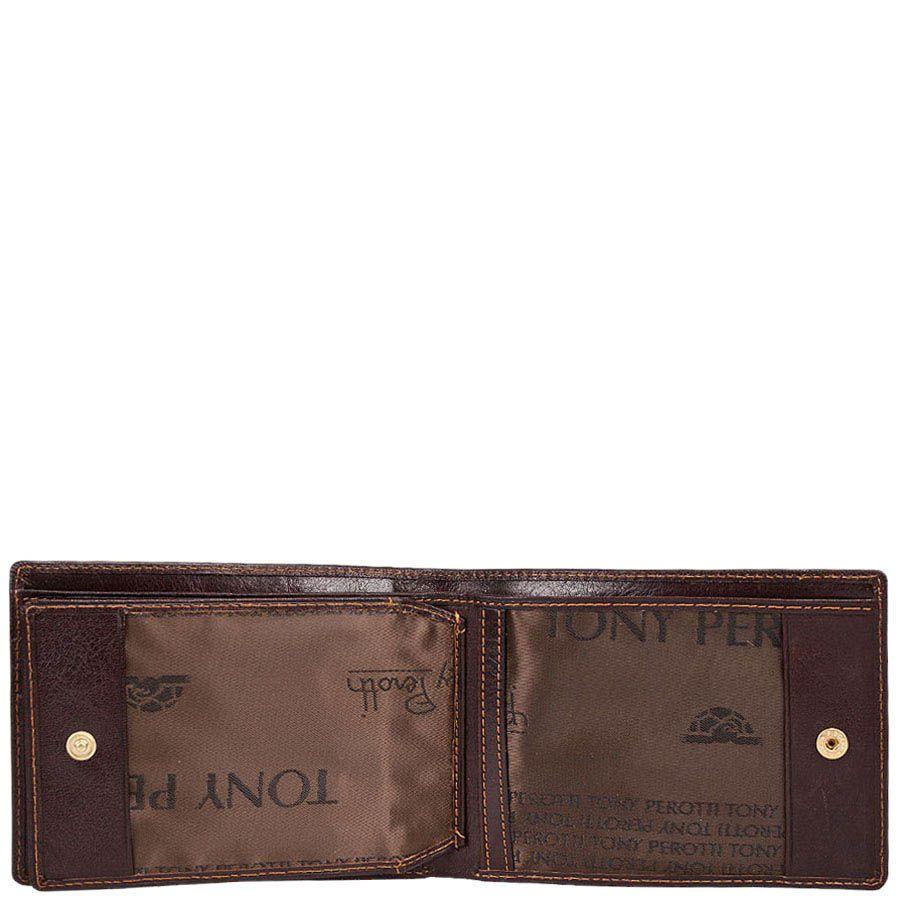 Кошелек Tony Perotti Italico из натуральной коричневой кожи для мужчин