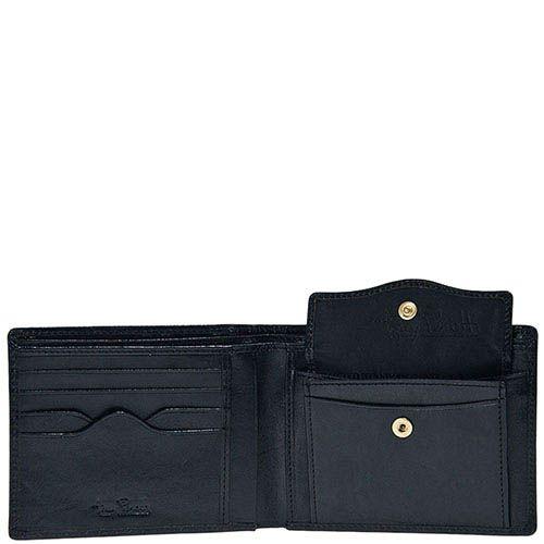 Черное портмоне Tony Perotti Italico из гладкой кожи с тиснением