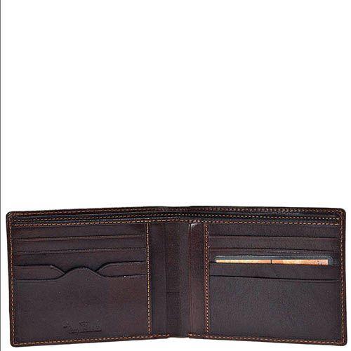 Горизонтальное коричневое портмоне Tony Perotti Italico из гладкой кожи с тиснением