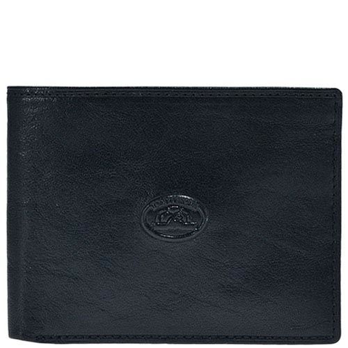 Минималистичное черное портмоне Tony Perotti Italico с фирменным тиснением посредине