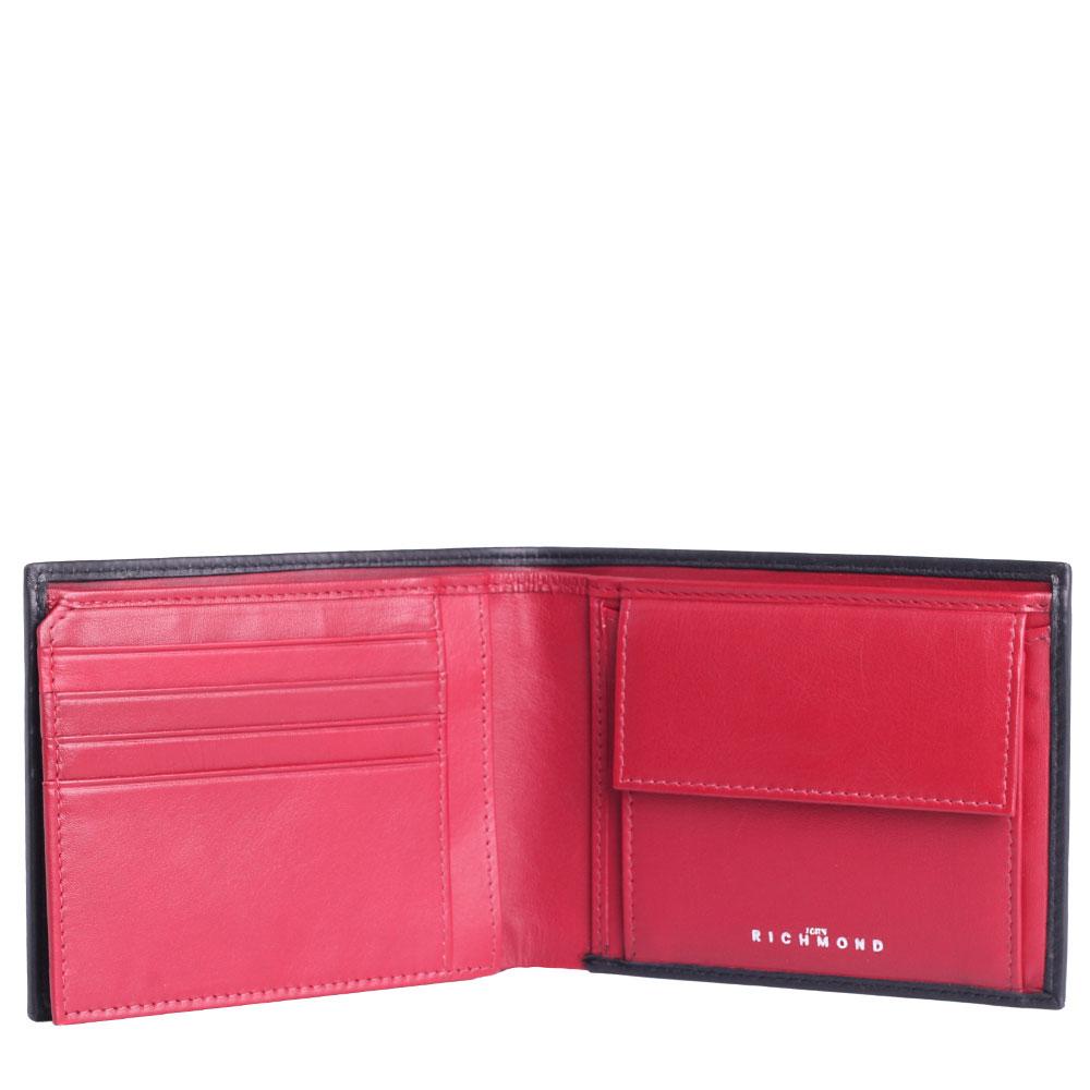 Черно-красное портмоне John Richmond Mick Jagger с отделением для документов
