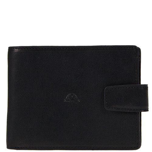 Черное портмоне Tony Perotti Just из гладкой кожи на застежке