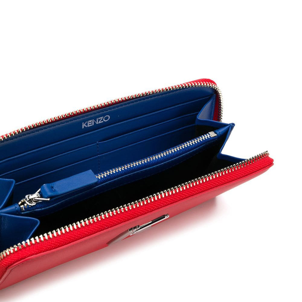Кошелек на молнии Kenzo K-Bag красного цвета