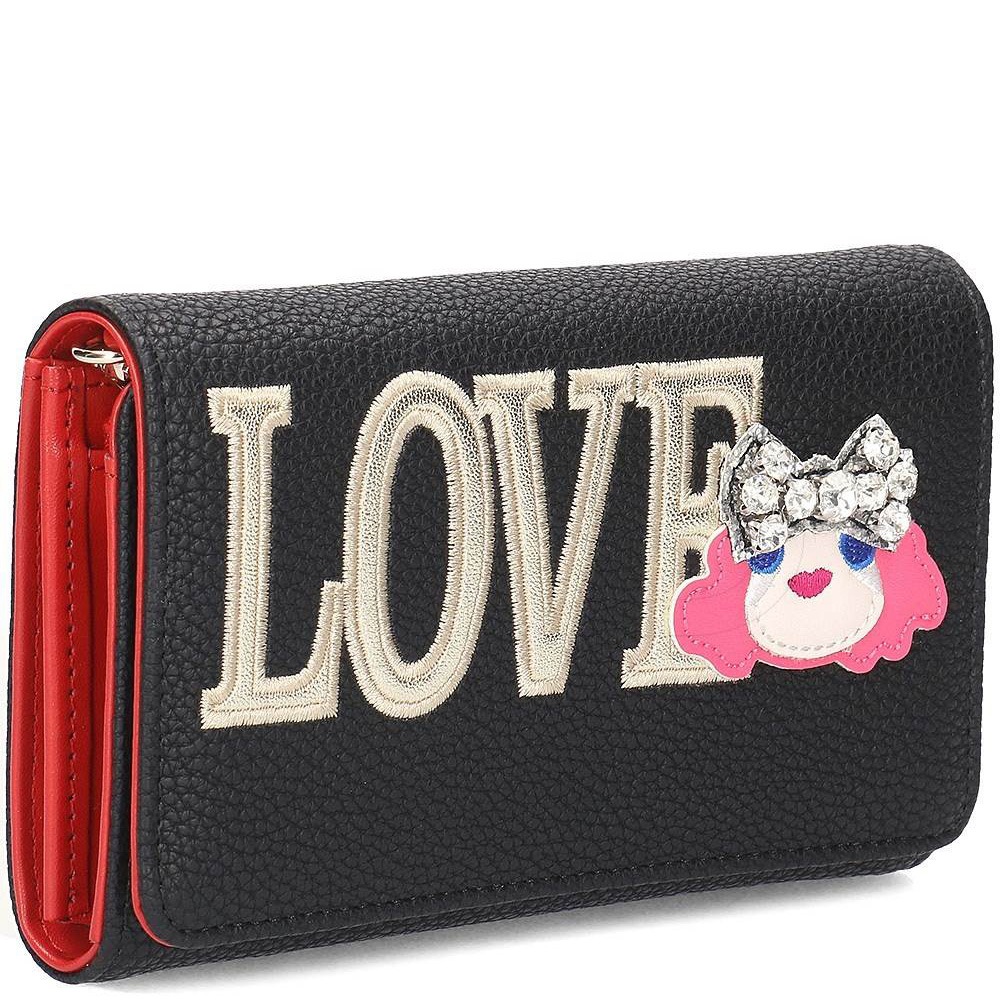 Кошелек на цепочке Love Moschino с вышивкой