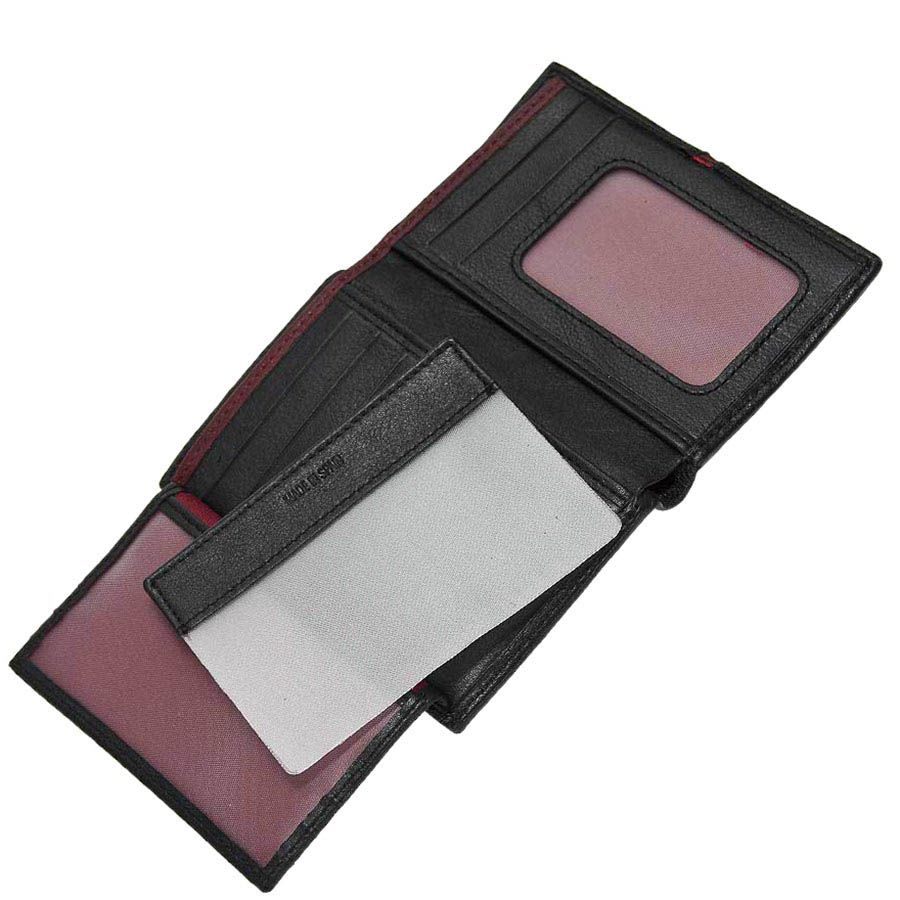 Плоское черное портмоне Miguel Bellido Moments с коричневой вставкой