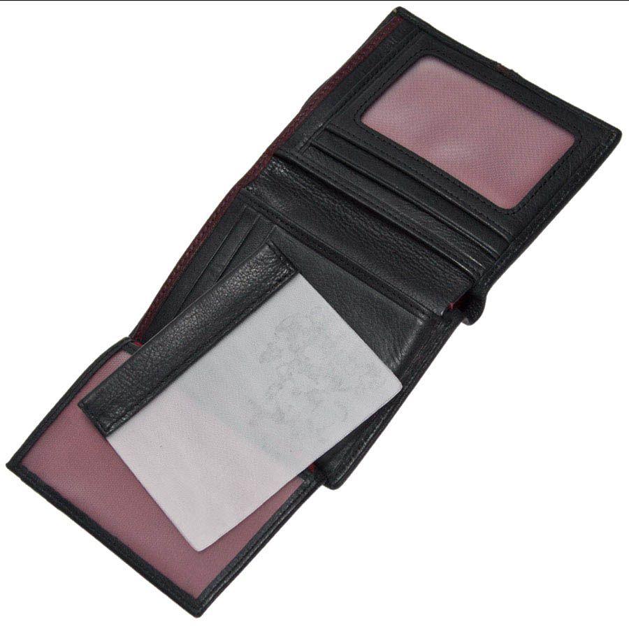 Черное портмоне Miguel Bellido Moments небольшого размера из кожи
