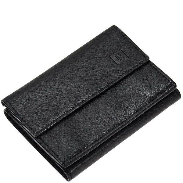 Стильное горизонтальное портмоне Miguel Bellido Classic из черной кожи на застежке