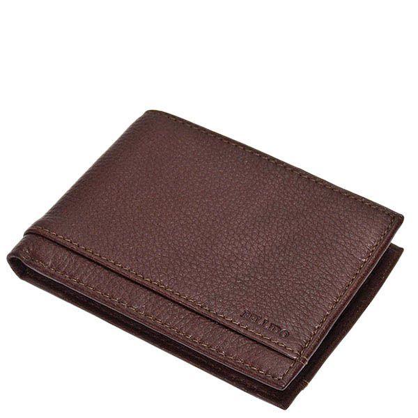 Горизонтальное коричневое портмоне Miguel Bellido Nature из зернистой кожи