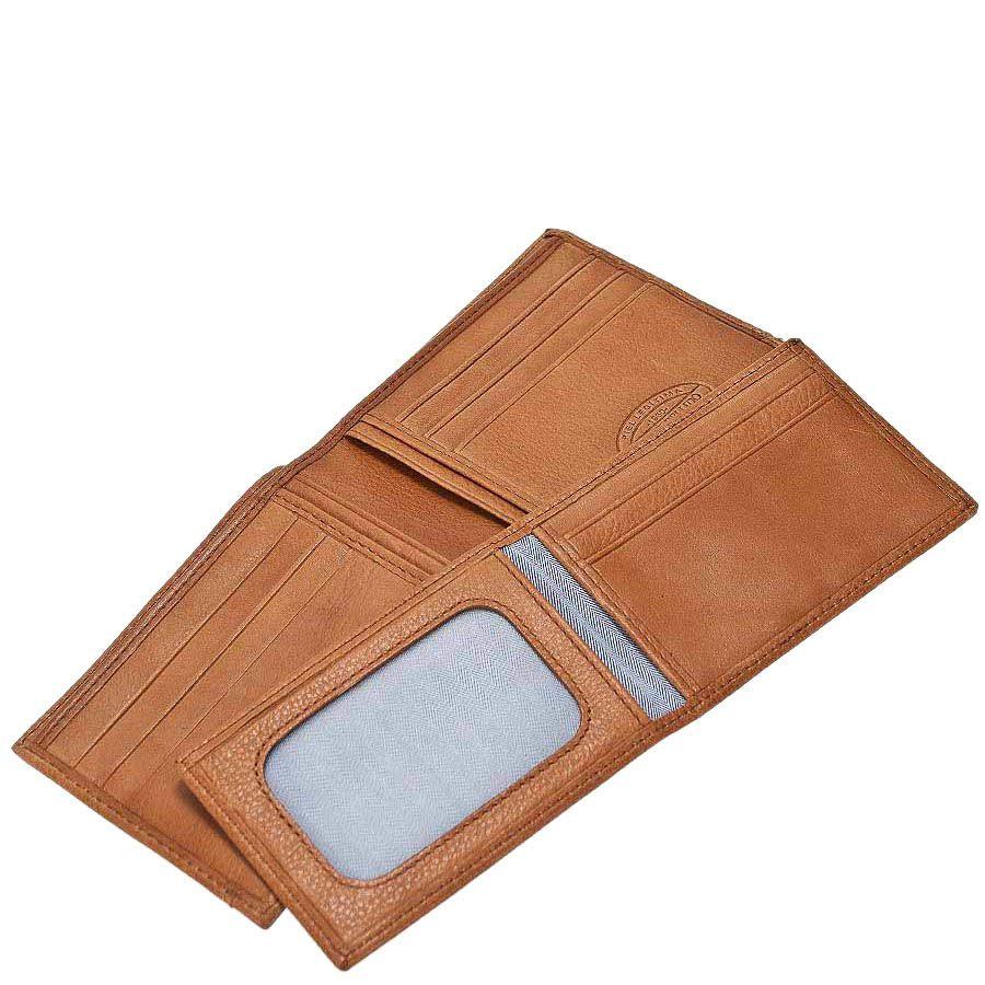 Коричневое портмоне из кожи Miguel Bellido Nature со съемной кредитницей