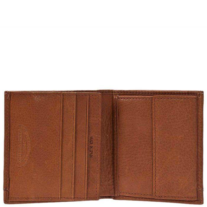 Мужское портмоне Miguel Bellido из натуральной коричневой кожи в фирменной упаковке