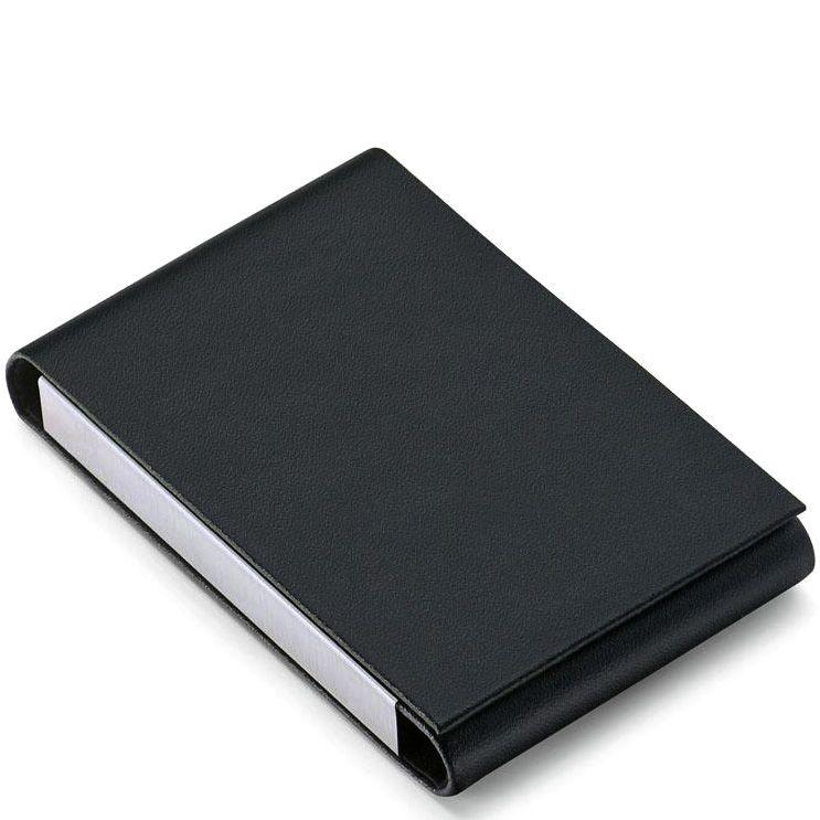 Визитница Philippi Flip черная вертикальная для своих визиток