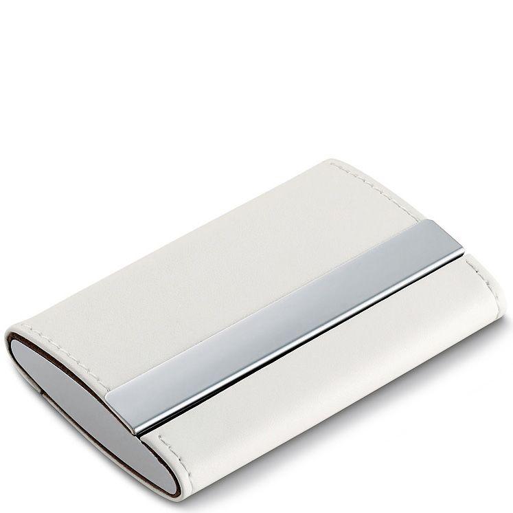 Визитница Philippi Donatella белая двойная для своих визиток и не только