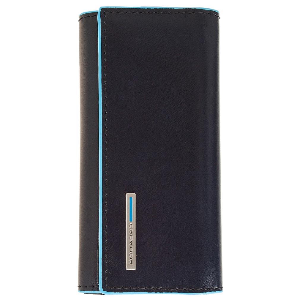 Ключница Piquadro Blue Square из кожи синего цвета