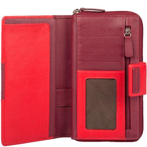Портмоне Piquadro Pop бордово-красное со множеством отделений