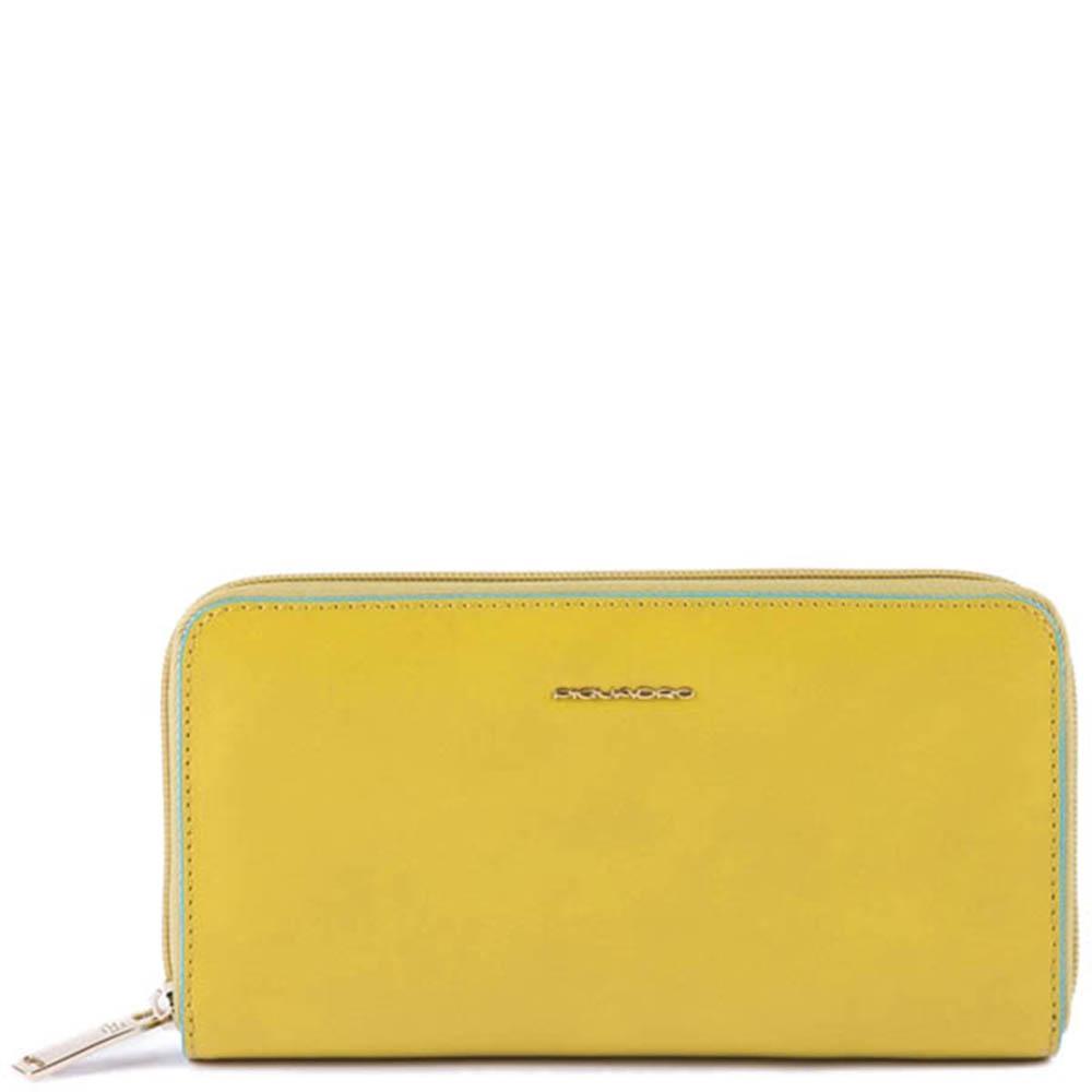 Желтое портмоне Piquadro BL Square